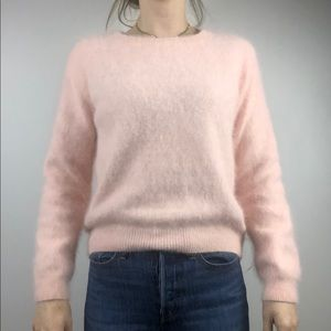 H&M baby pink fuzzy sweater